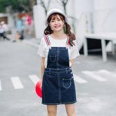 VK旗艦店 新款韓系寬松顯瘦牛仔背吊帶裙無袖洋裝