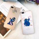 【紅荳屋】創意卡通史迪奇蠶絲紋  蘋果i5s/iphone7/ 7plus/ 6splus/5s手機殼