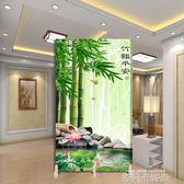 中式實木山水折屏風客廳臥室衛生間時尚現代簡易隔斷落地隔墻折疊MBS 依凡卡時尚