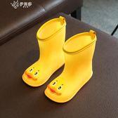 兒童雨鞋男童日本幼兒輕便小童防滑雨靴女膠鞋寶寶水鞋       伊芙莎
