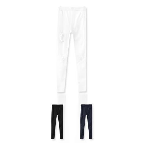 MIUSTAR 極度激瘦個性刷破彈力合身鬆緊長褲(共3色,XS-XL)【ND1432EW】