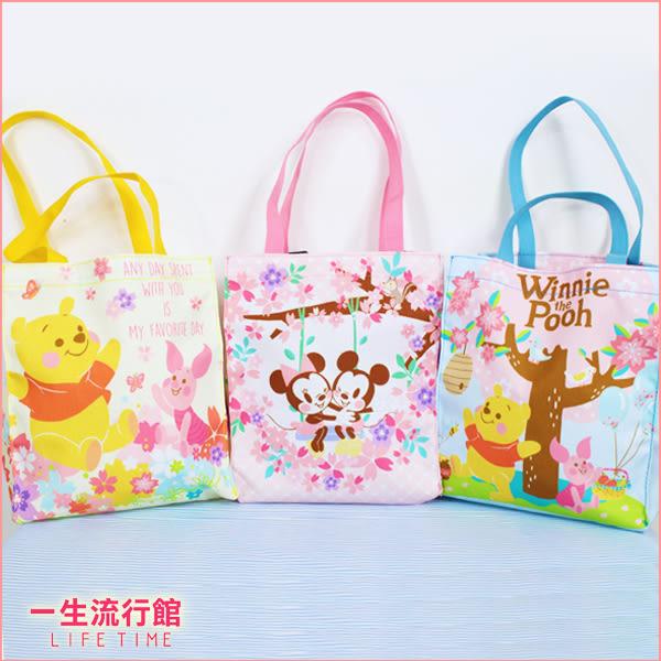 【最後2個】迪士尼 櫻花米奇米妮 櫻花維尼小豬 正版 便當袋 環保購物袋 雙倍飲料提袋 B19120