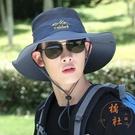 防曬帽子男夏天遮陽帽戶外透氣騎車帽漁夫帽登山釣魚【橘社小鎮】
