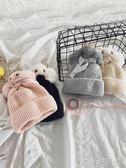 兒童帽 女童卡通帽子冬款保暖帽子新款1-3-6歲女寶寶可愛洋氣毛線帽 時尚新品