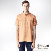 【ST.MALO】名牌經典款亞麻襯衫-1603MS-榛果棕
