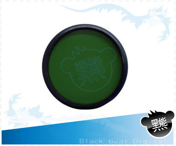 【黑熊館】 專業級專用多層鍍膜 46mm 49mm 52mm 55mm 58mm 綠色濾鏡 綠色保護鏡 3X4