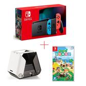 【現貨】任天堂 Nintendo Switch 電力加強版紅藍主機+動物森友會遊戲片+Printoss相片印表機 公司貨