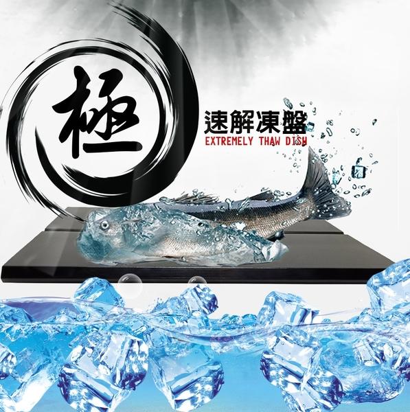 金德恩 台灣製造 59X42cm 四入組裝 超大尺寸零消耗能量排水槽設計自然急速解凍盤/適合大魚大肉