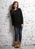 【BTIS】女長版針織衫 黑色