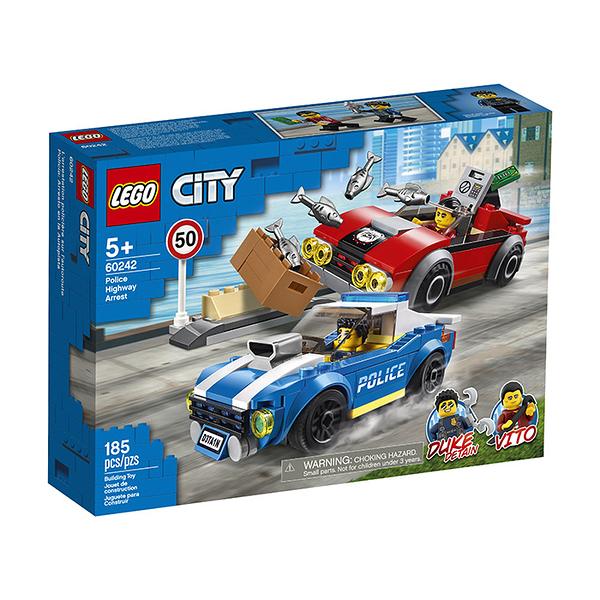 LEGO 樂高 City 城市系列 60242 警察高速公路追捕戰 【鯊玩具Toy Shark】