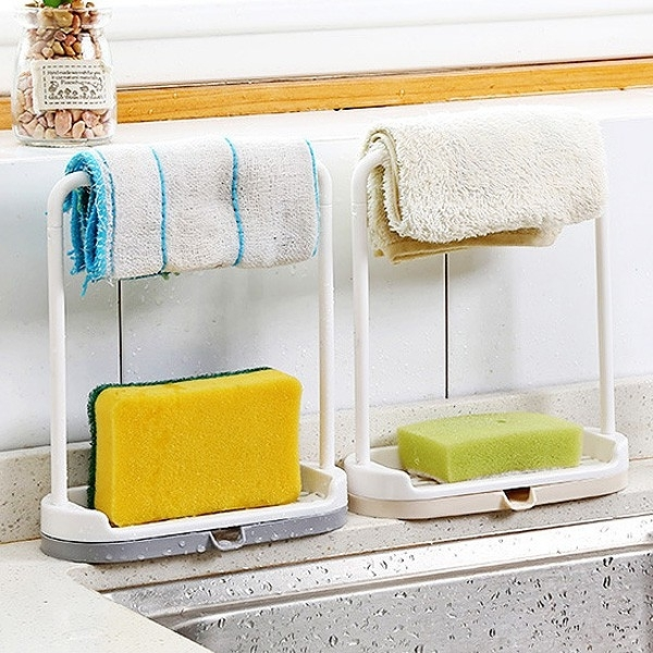 【BlueCat】吊桿槓廚房排水抹布架