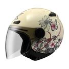 【東門城】ZEUS ZS210B DD75(淺黃) 半罩式安全帽 快拆鏡片