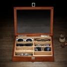 眼鏡收納盒 木制眼鏡盒多格眼鏡收納盒鏡太陽鏡墨鏡收納盒眼鏡展示收藏盒 小宅女