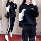 運動兩件套裝女2020春秋季新款時尚寬鬆韓版洋氣休閒bf風女神學生 茱莉亞