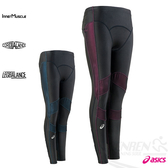 ASICS亞瑟士 女全長緊身褲RF(黑紅) 吸汗速乾、防紫外線
