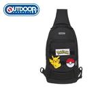 【橘子包包館】OUTDOOR Pokemon 聯名款 訓練家系列 單肩包 黑色 ODGO20C06BK 單肩後背包 胸包