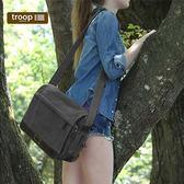 【TROOP】英倫學院OXFORD單肩包/TRP0352BK(黑色)