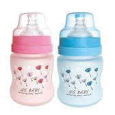 優生 真母感特護玻璃奶瓶寬口徑120ml(藍.粉) 【德芳保健藥妝】顏色隨機出貨