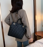 側背包高級感包包時尚大容量菱格錬條包時尚手提包女新款洋氣單肩包 雙十二全館免運
