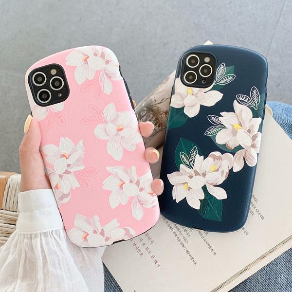 蘋果 iPhone11 Pro Max XS XR XS MAX iX i8+ i7+ 花朵皮紋殼 手機殼 全包邊 保護殼