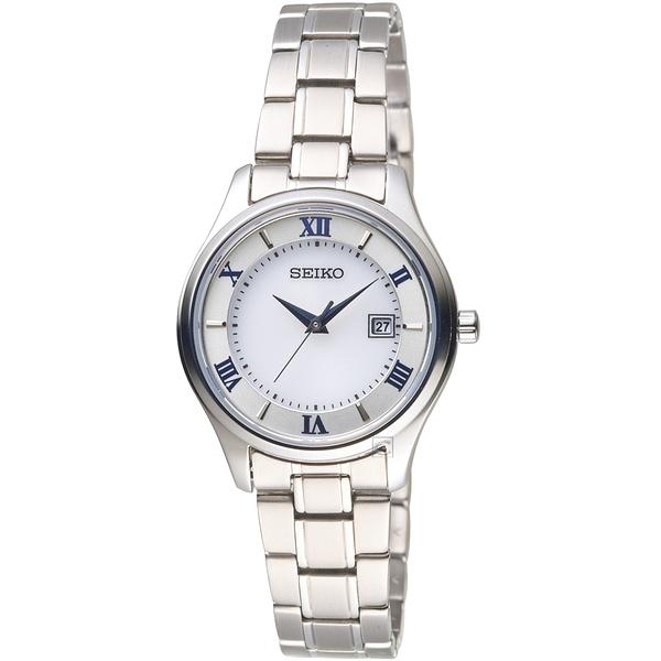 SEIKO精工SPIRIT簡約羅馬太陽能鈦金屬女腕錶 V137-0DG0S  STPX063J
