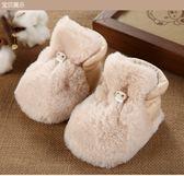 0新生兒嬰兒軟底鞋子-保暖1秋冬季2寶寶腳套3加厚款加絨6純棉個月 聖誕禮物 交換禮物