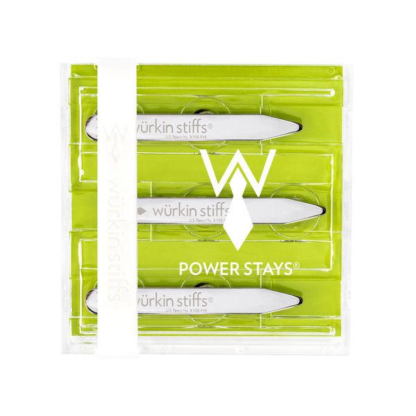 強力領撐片(壓克力包裝/六個2.5英寸強度領片) - 綠色