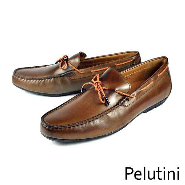 【Pelutini】雅痞時尚樂福鞋 咖啡(7808-DBR)