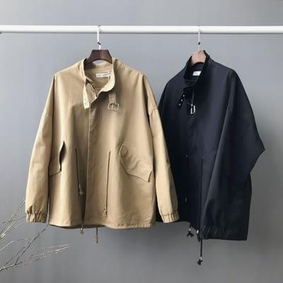 風衣外套-寬鬆個性軍裝百搭熱銷女大衣3色73oj18【巴黎精品】