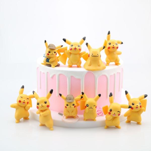 10款神奇寶貝公仔 皮卡丘 動漫模型 玩偶 桌面擺件 蛋糕裝飾
