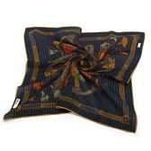 Christian Dior巴洛克風字母裝飾領帕巾(藍) 989036-4