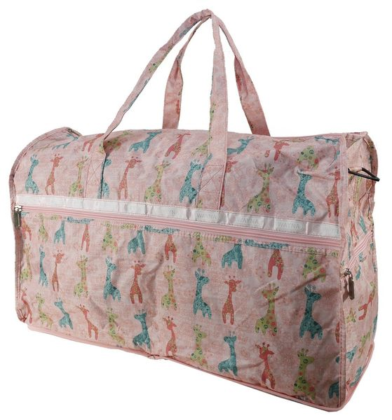 WAYNA 摺疊大旅行袋 - 長頸鹿 粉