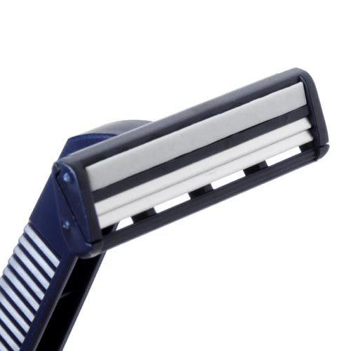 【九元生活百貨】2入輕便式雙層刮鬍刀 刮鬍刀 拋棄式刮鬍刀