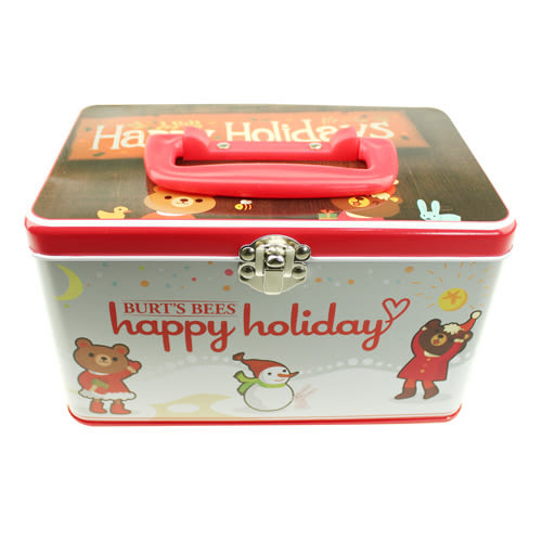 BURT'S BEES 蜜蜂爺爺 Happy Holiday收納鐵盒【美麗購】