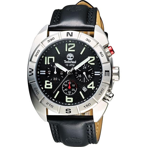 Timberland Oakwell 探險王計時腕錶-黑/44mm TBL.13670JS/02