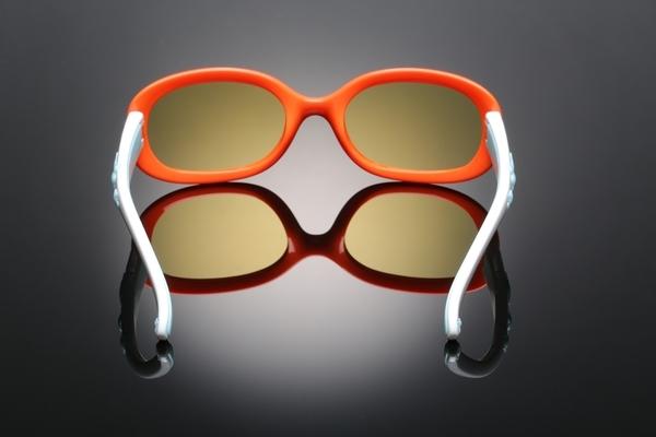 《FUTIS》AHT 兒童抗藍光眼鏡 防藍光 濾藍光 3C護目鏡 抗UV 防止眼睛疲勞 AB0006_C4 亮橘色