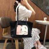 女包韓版手提包時尚帆布包包單肩斜背包包大容量旅行包 艾莎