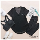 Catworld 新風尚。BRA背心加上衣長褲運動套裝三件組 【16600297】‧M-2XL