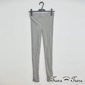 【Tiara Tiara】彈力緊身薄針織長內搭褲(淺灰/灰) 新品穿搭