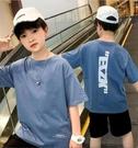 男童短袖t恤潮牌2021夏季兒童韓版純棉上衣大童12歲男孩半袖夏裝 韓慕精品