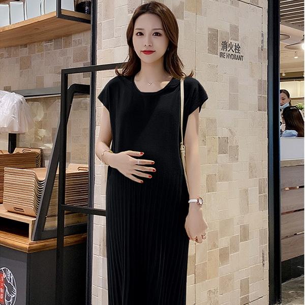 蝙蝠袖簡約孕婦洋裝 兩色【CUH121007】孕味十足 孕婦裝