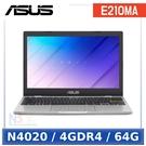 【5月限時促】 ASUS E210MA-0021WN4020 11.6吋 小筆電 (N4020/4GDR4/64G/W10HS)