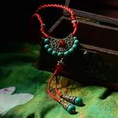 毛衣鍊 民族風瑪瑙-銅扇設計母親節生日禮物女項鍊73hf2【時尚巴黎】