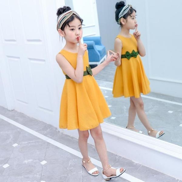 全館83折女童夏裝連身裙2-3四4五5六6十7到8歲小學生女孩韓版洋氣公主裙子