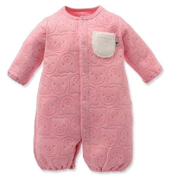 連身衣 最新日本三層棉滿印熊兩穿 包屁衣新生兒服 兔裝(50-60)【GD0145】