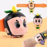 兒童錶 葫蘆娃兒童玩具卡通變形音樂手錶男女孩小學生社會人抖音同款玩具