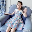 女童洋裝 女童夏裝連衣裙2021新款韓版女孩背心公主裙兒童夏天薄款洋氣裙子 快速出貨