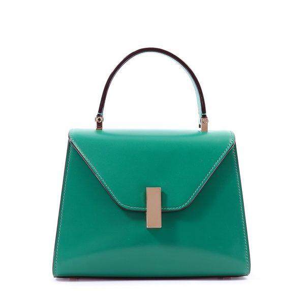 ■專櫃67折■義大利愛馬仕 Valextra 全新真品Mini Iside Jeweled 兩用包 翡翠綠色