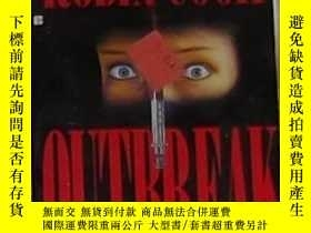 二手書博民逛書店英文原版罕見Outbreak by Robin Cook 著Y1