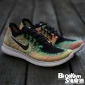 Nike FREE RN FLYKNIT 彩虹 黑勾 慢跑鞋 男鞋  (布魯克林) 2017/5月  880843-005